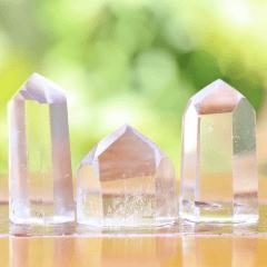Ponta de Cristal Transparente Pequena