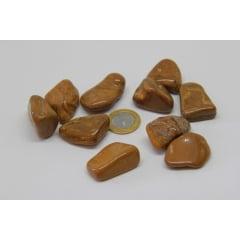 Pedra Jaspe Dourado Rolada 3 a 5 cm - Helena Cristais