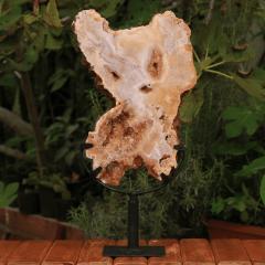 Pedra Citrino em Chapa na Base de Ferro