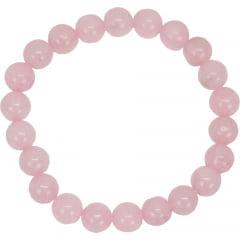 Pulseira Quartzo Rosa Esfera – 4502