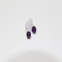 Brinco de Pedra Ametista - Helena Cristais