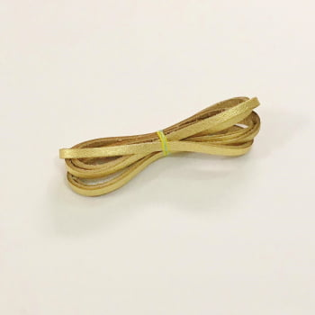 Tira de Couro 0,4mm Dourado