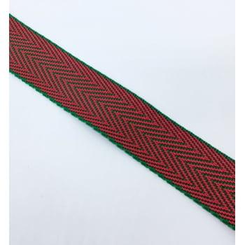 Alça de Nylon Vermelho/Verde 3cm