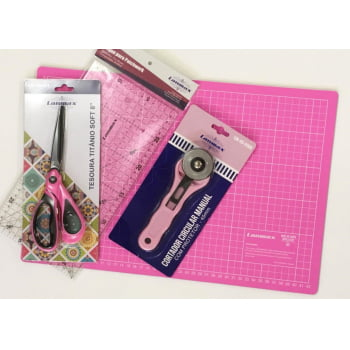 Kit para Patchwork Rosa