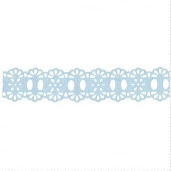Passa Fita Crochê Liso Azul Claro
