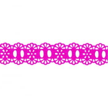 Passa Fita Crochê Liso Pink