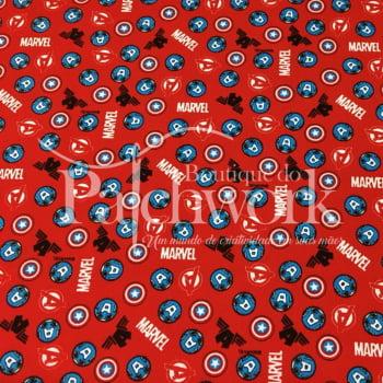 Tecido Capitão America Fd Vermelho