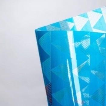 Plástico Cristal Prisma Azul