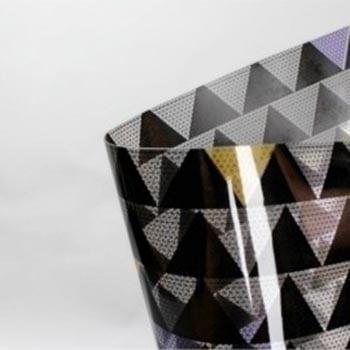 Plástico Cristal Prisma Preto