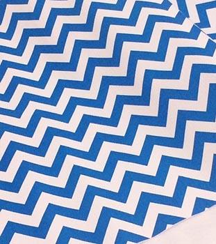 PVC Chevron Azul Royal