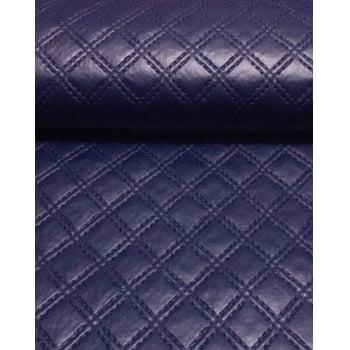 PVC Matelassado Duplo Chanel Azul Marinho