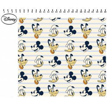 Retalho Tecido Mickey, Donald e Pluto (60x34cm)