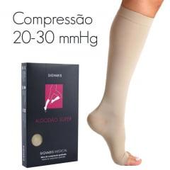 MEIA SIGVARIS ALGODÃO SUPER 20-30 mmHG PANTURRILHA