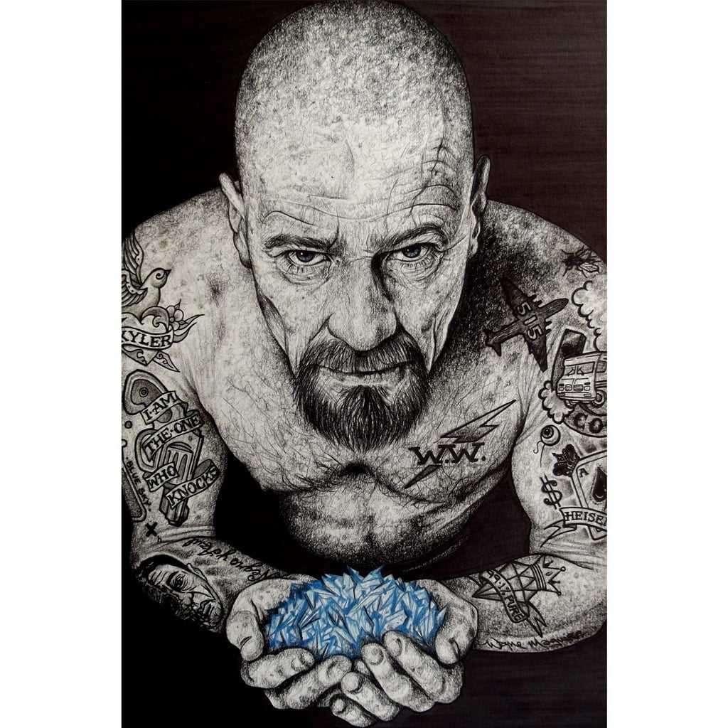 Quadro Breaking Bad Walter White Heisenberg Tatuado