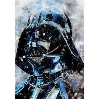 Quadro Star Wars Darth Vader Estilo Aquarela
