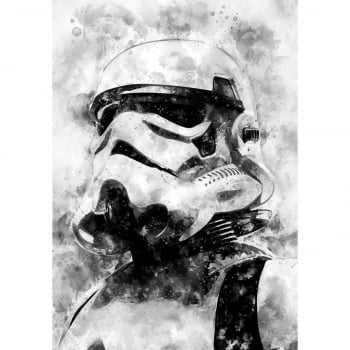 Quadro Star Wars Stormtrooper Estilo Aquarela