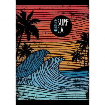 Quadro Surf Long Beach Vintage Retrô
