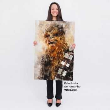 Quadro Star Wars Chewbacca Estilo Aquarela