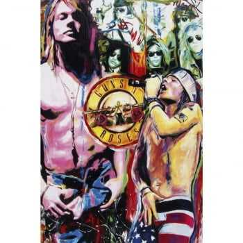Quadro Banda Rock Guns N' Roses - Axl Rose Art