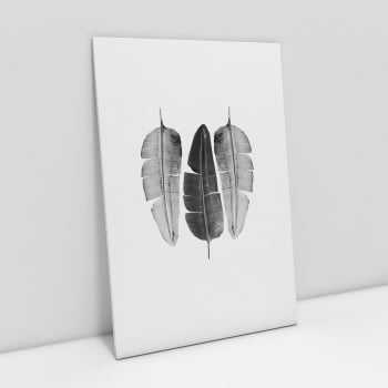 Quadro Folha IV - Minimal Black and White Leaf