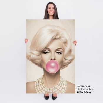Quadro Marilyn Monroe Chiclete Bubble Gum