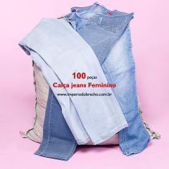 CALÇAS JEANS FEMININA / LOTE COM 100 PEÇAS