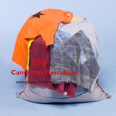 CAMISETAS MASCULINA /  LOTE COM 100 PEÇAS