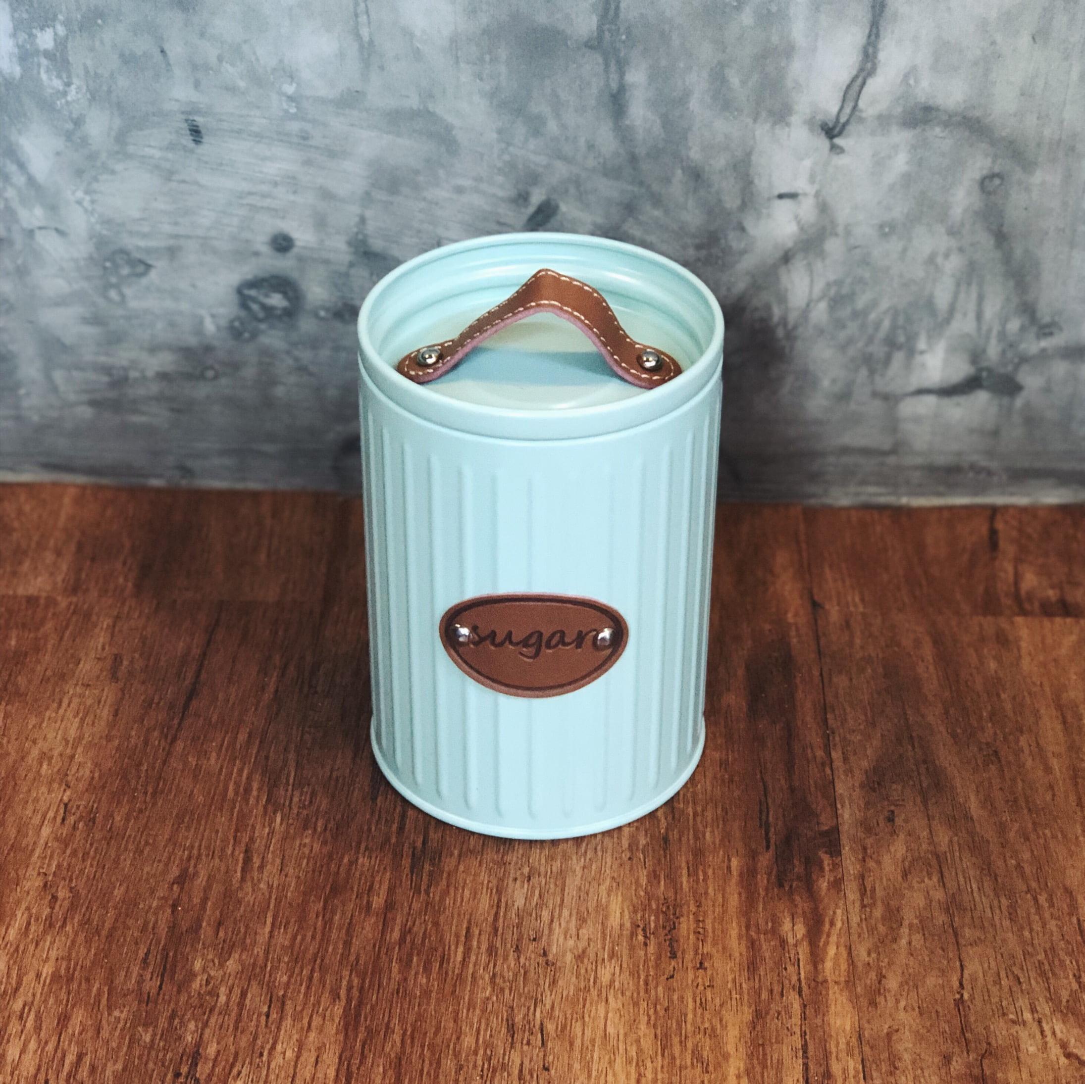 pote hermetico azul com alça de couro