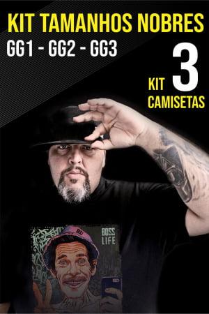 Kit Camiseta Plus Size  3 Peças de R$270 por R$210
