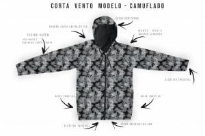 Kit Corta Vento 3 peças de R$510  por R$397
