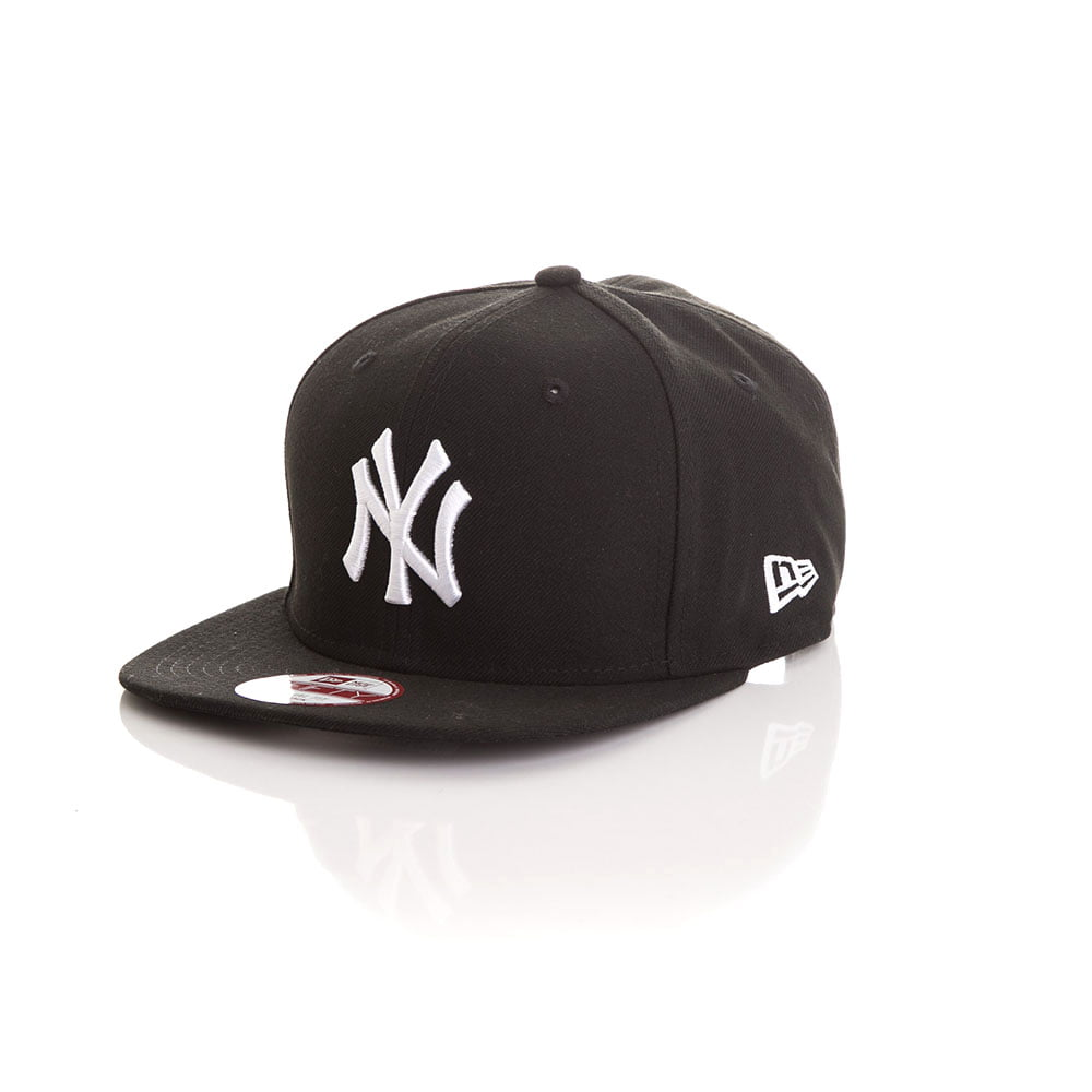 Bone New Era 9Fifty New York Yankees preto logo branco