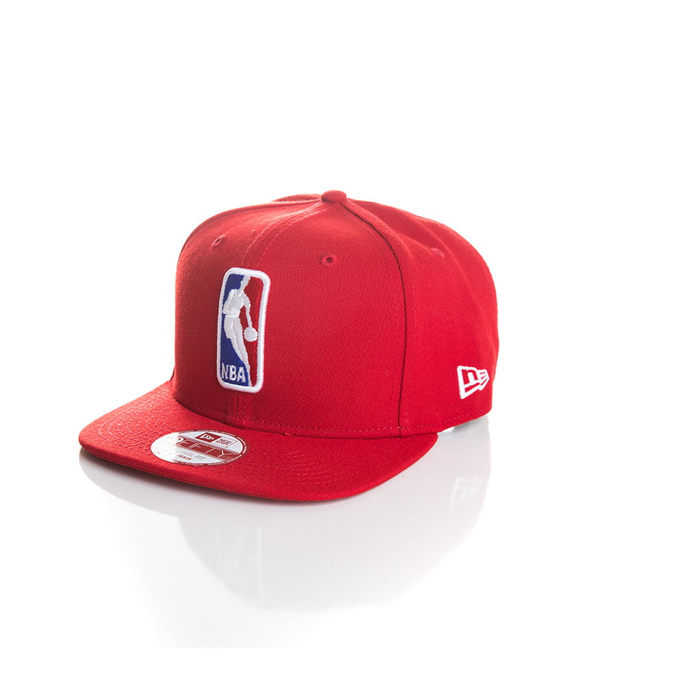 Bone New Era 9Fifty logo NBA vermelho original fit