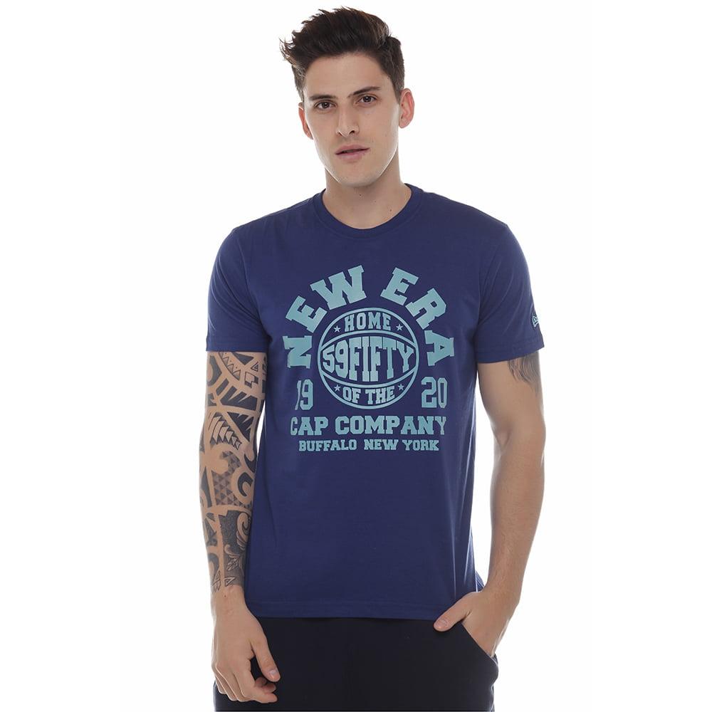 camiseta new era cap co azul h0321