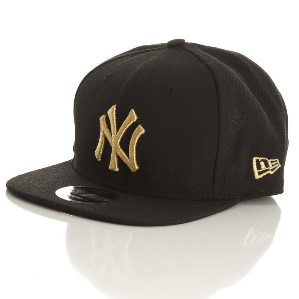 Bone New York Yankees New Era logo gold