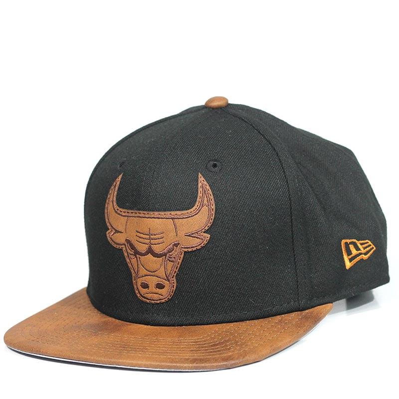 Bone Chicago Bulls New Era 9fifty strapback aba couro