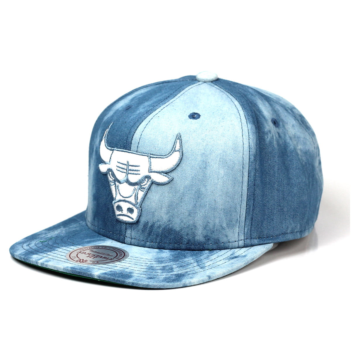 Bone Chicago Bulls Mitchell and Ness denim snapback