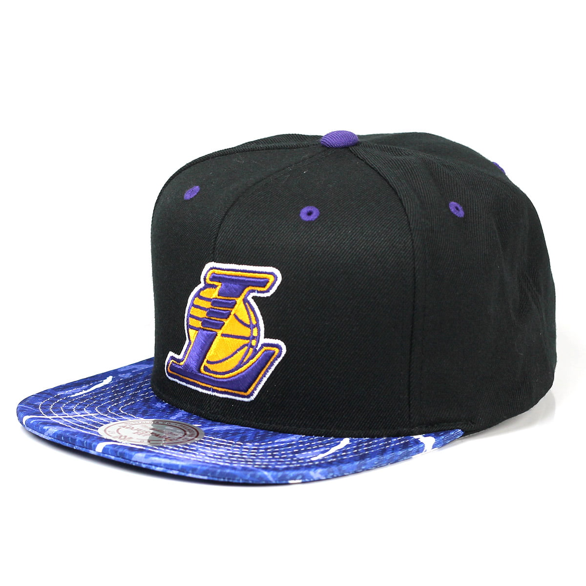 Bone Los Angeles Lakers Mitchell and Ness camo snapback