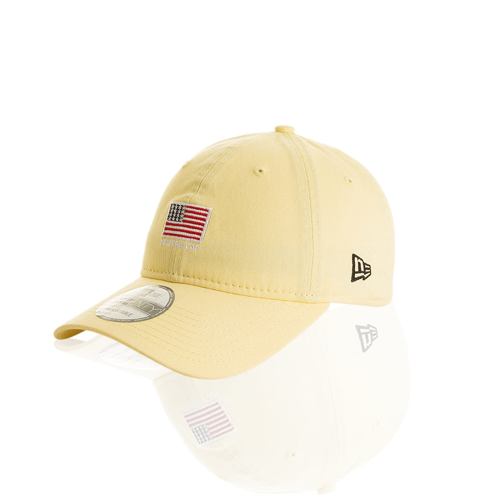 Bone New Era mini logo usa 9 twenty amarelo