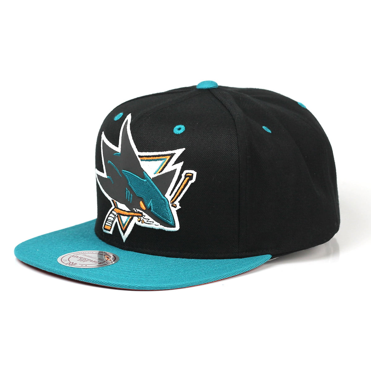Bone San Jose Sharks Mitchell and Ness snapback refletivo