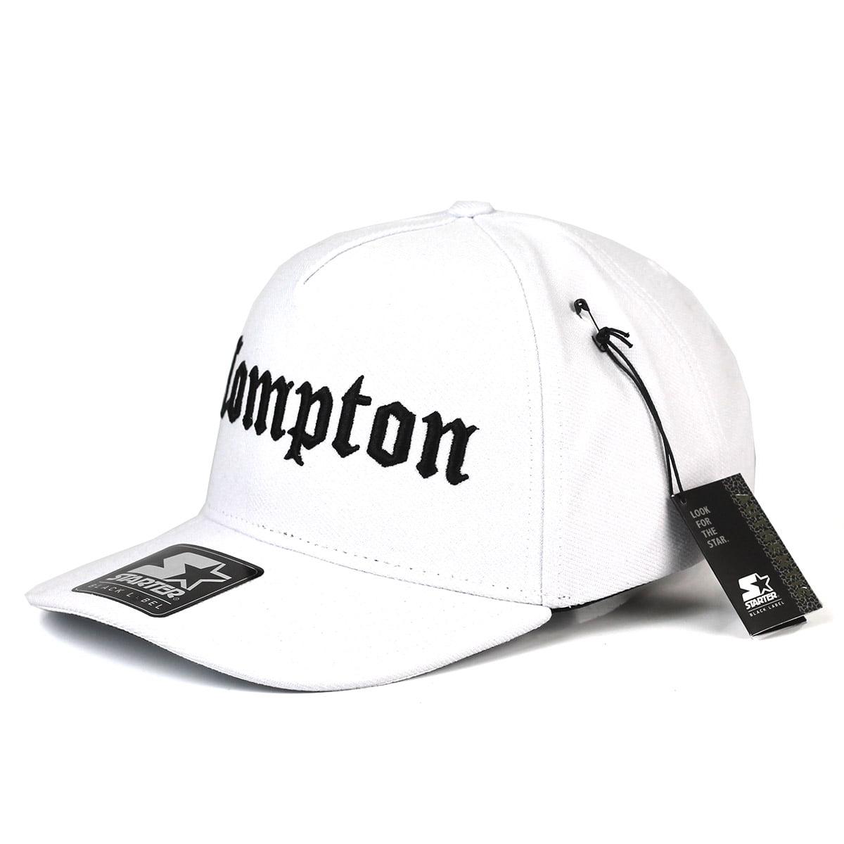 Bone Starter Compton snapback aba curva branco