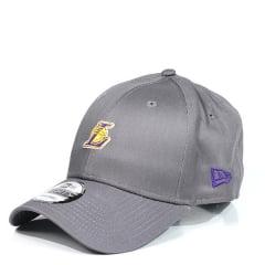 Boné Los Angeles Lakers New Era Cinza com Ilhós