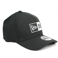 Boné New Era 39thirty aba curva box logo preto