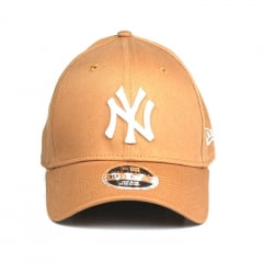 Boné New York Yankees New Era 39Thirty aba curva marrom