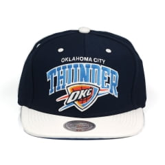 Bone Oklahoma City Thunder Mitchell and Ness snapback couro