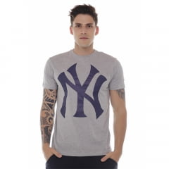 camiseta new era new york yankees cinza h0372