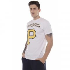 camiseta new era mlb pittsburgh pirates branco
