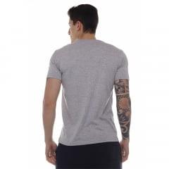 camiseta new era logo mlb cinza h027