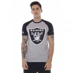 camiseta new era oakland raiders nfl cinza h0151