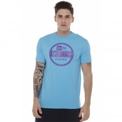 camiseta new era strap back azul h0084