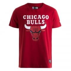 Camiseta New Era NBA Chicago Bulls Vermelho